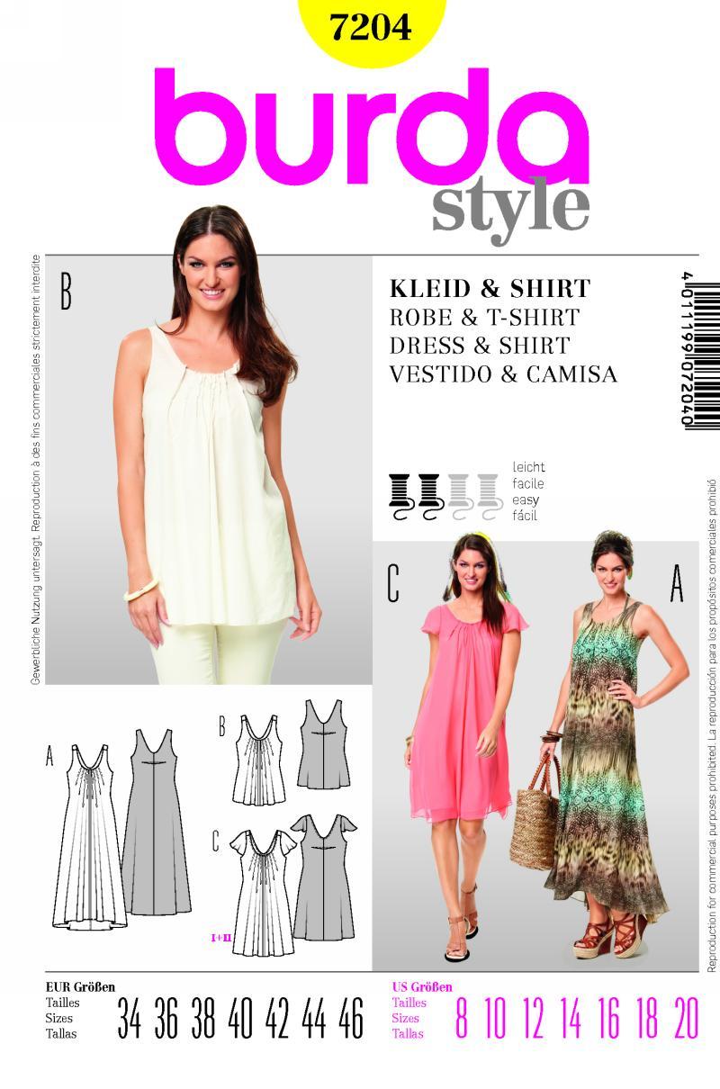 Burda dress and shirt 7204