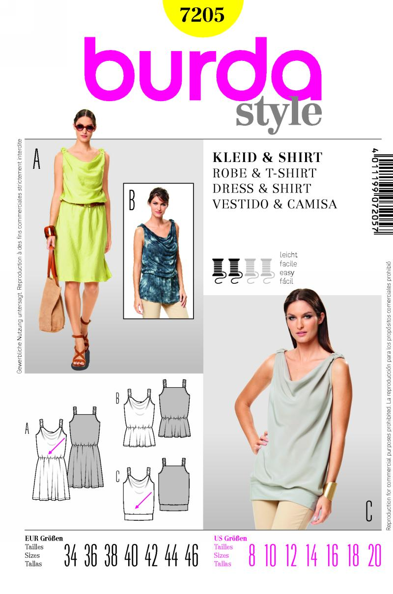 Burda dress and shirt 7205