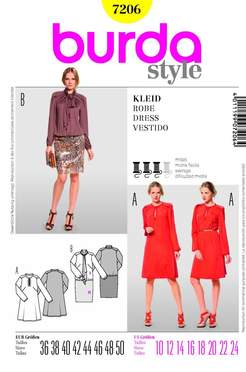 Burda dress 7206