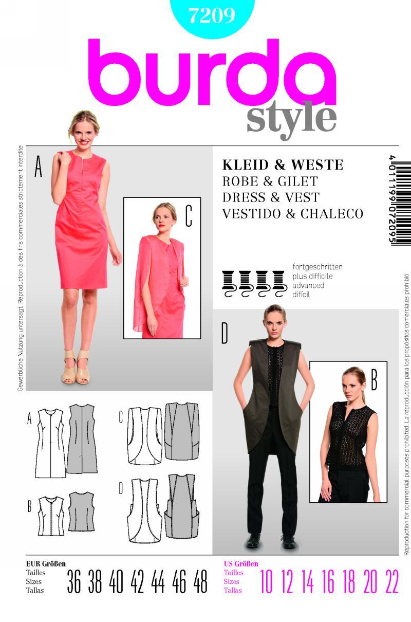 Burda dress and vest 7209