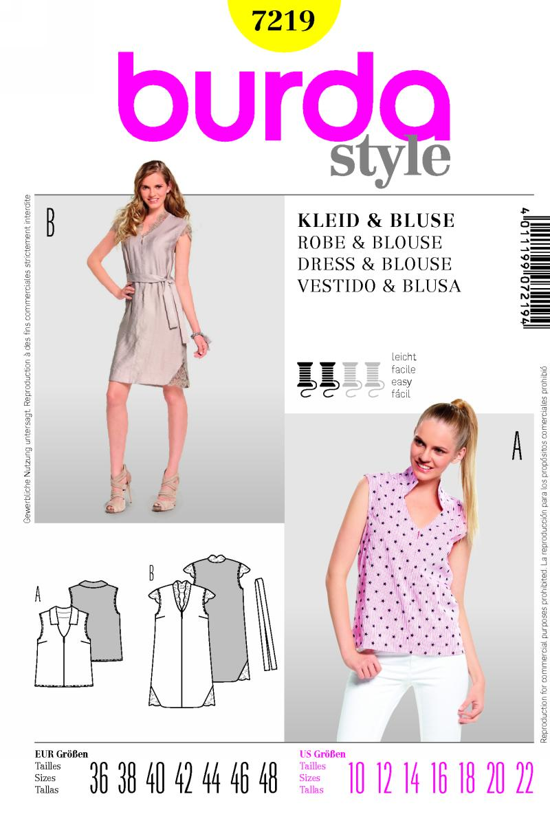 Burda top, dress 7219