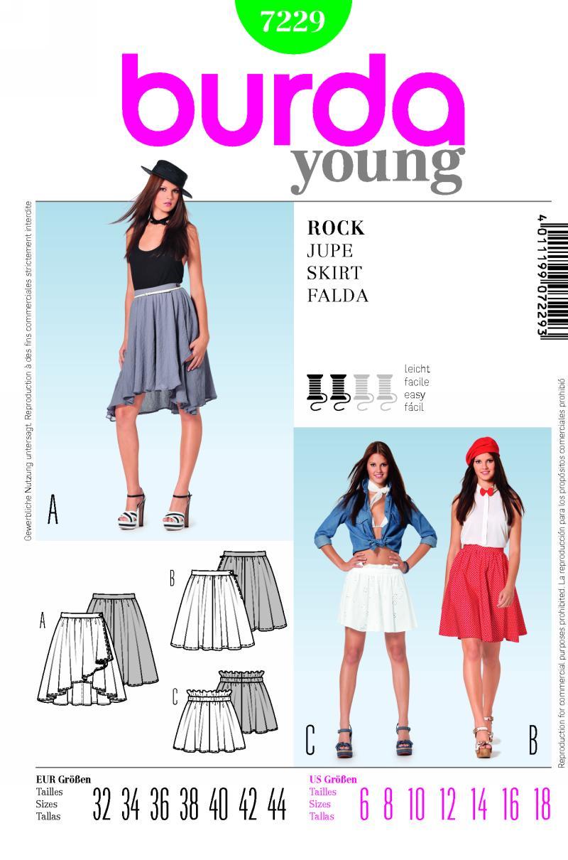 Burda Skirt 7229
