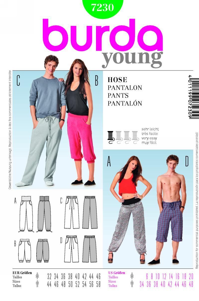 Burda Pants 7230