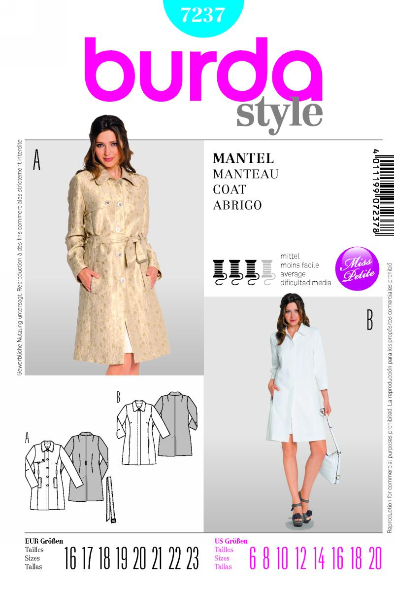 Burda Coat 7237