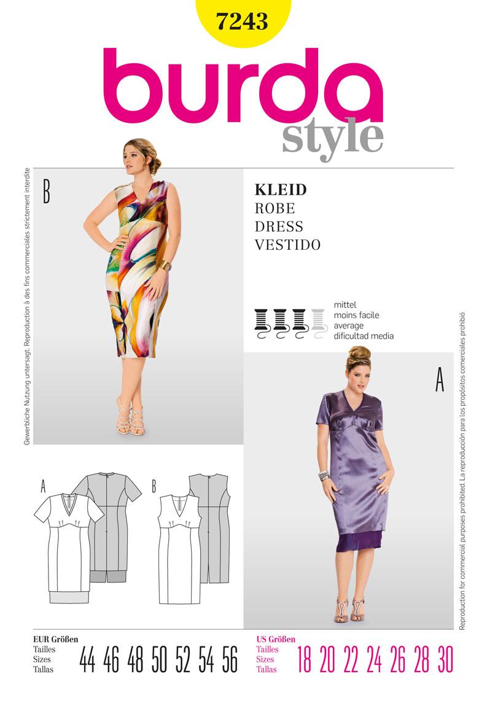 Burda dress 7243