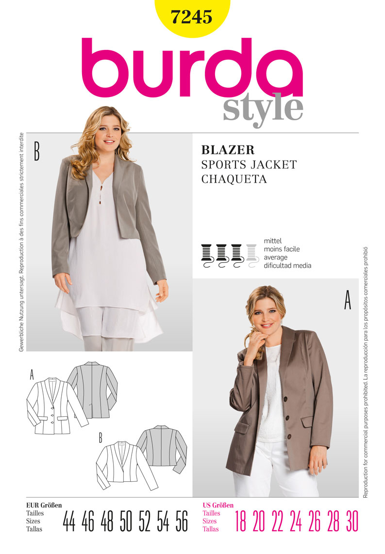 Burda jacket 7245