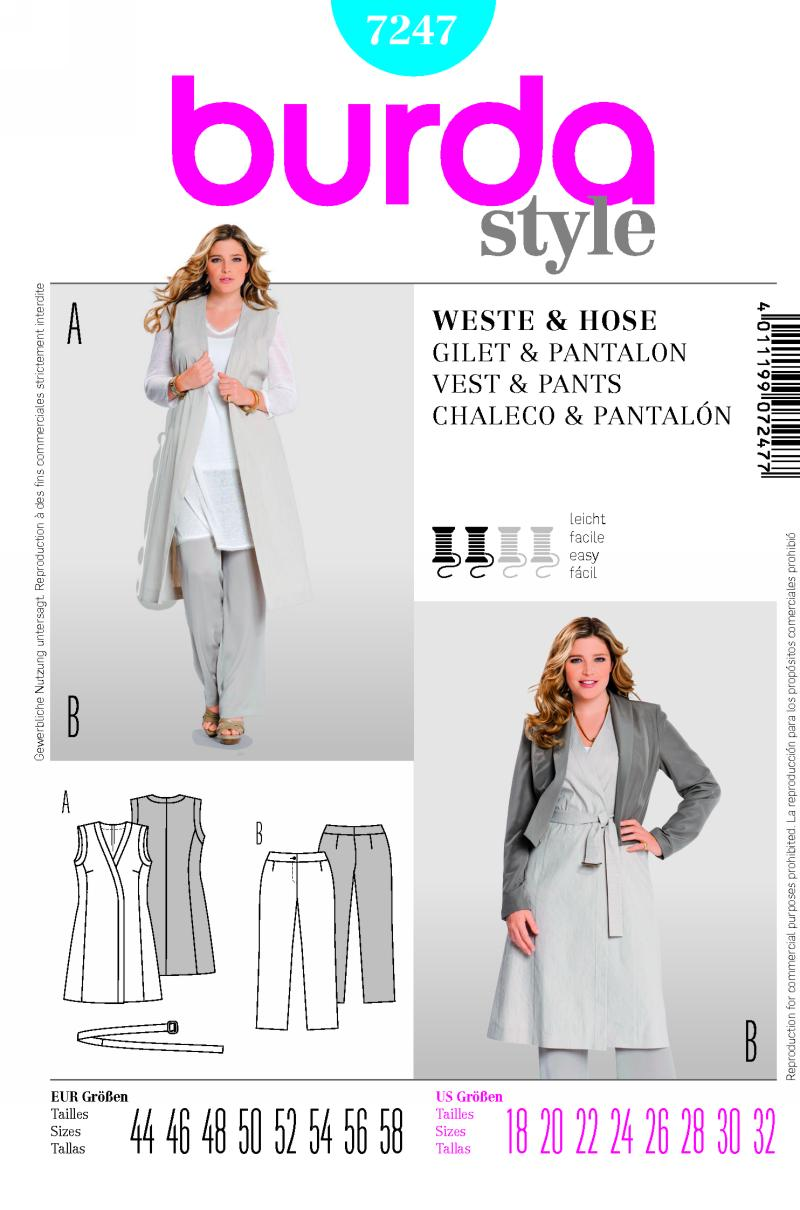 Burda Vest and Pants 7247