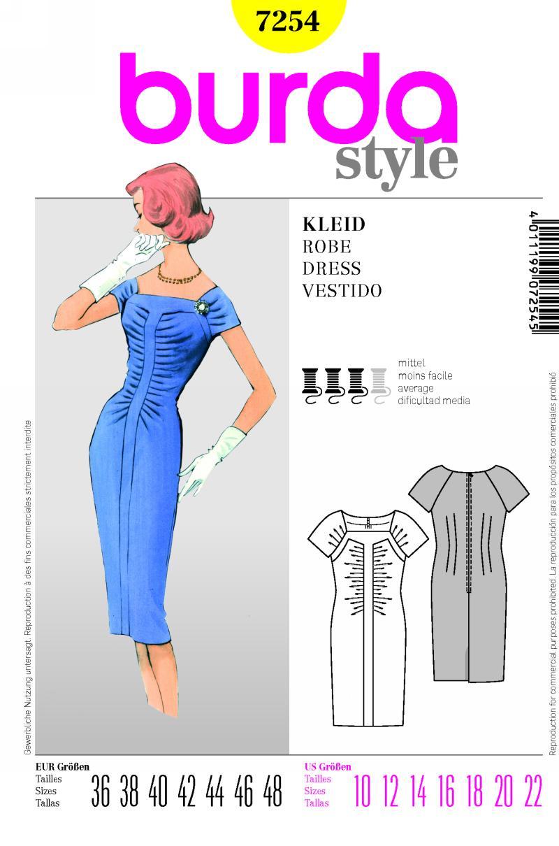 Burda dress 7254