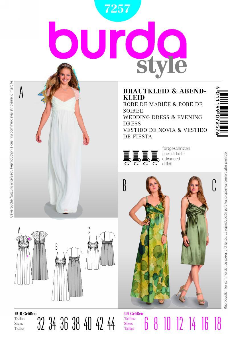 Burda Wedding and Evening Dress 7257