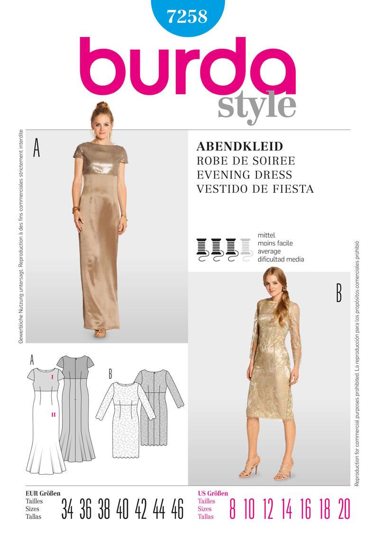 Burda dress 7258