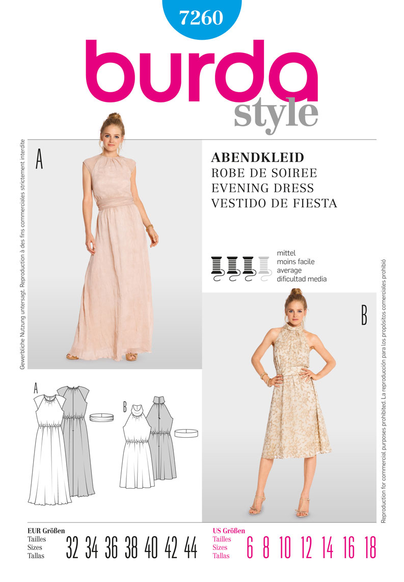 Burda Evening Dress 7260