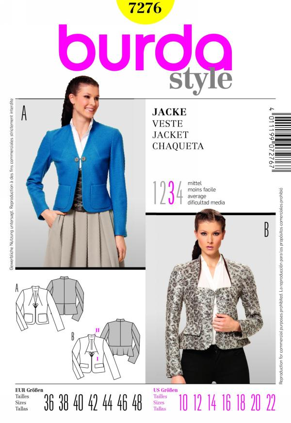 Burda misses jacket 7276