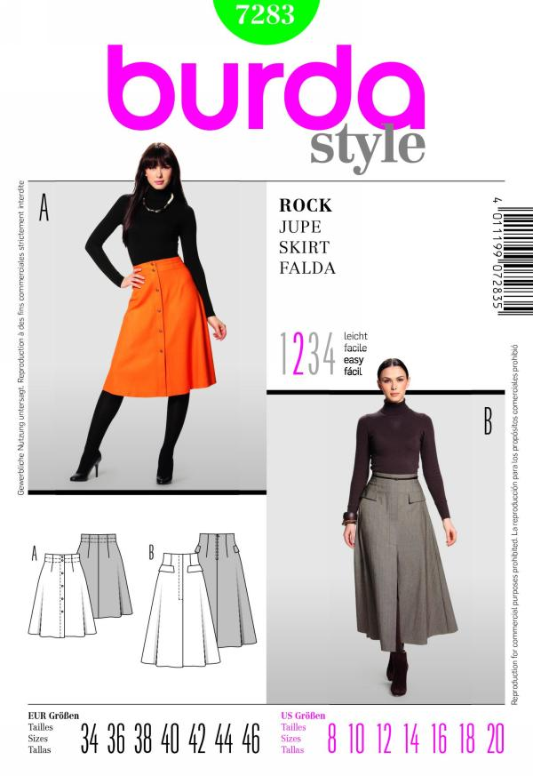 Burda misses skirt 7283