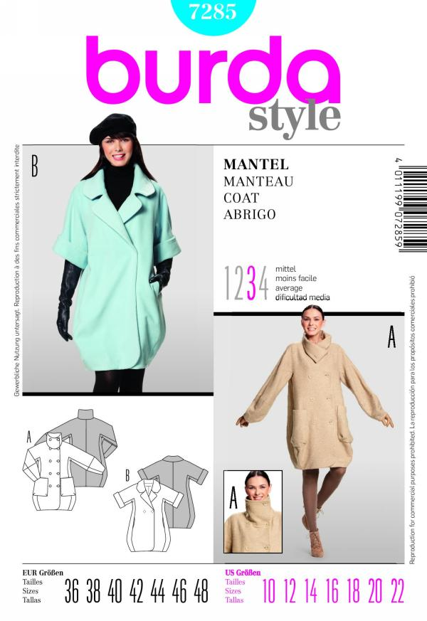 Burda misses coat 7285