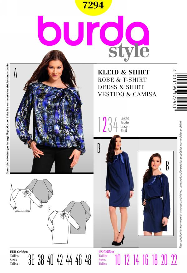 Burda misses dress and shirt 7294