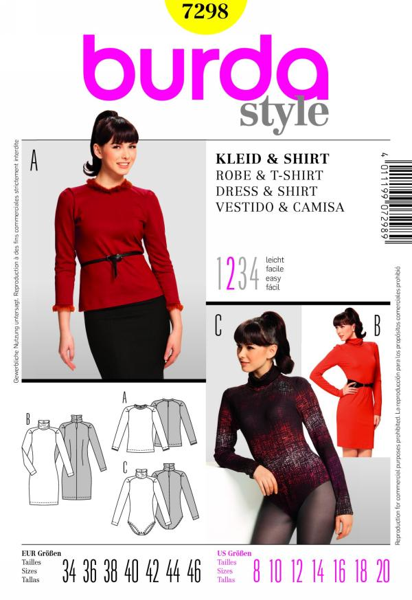 Burda Misses dress and shirt 7298