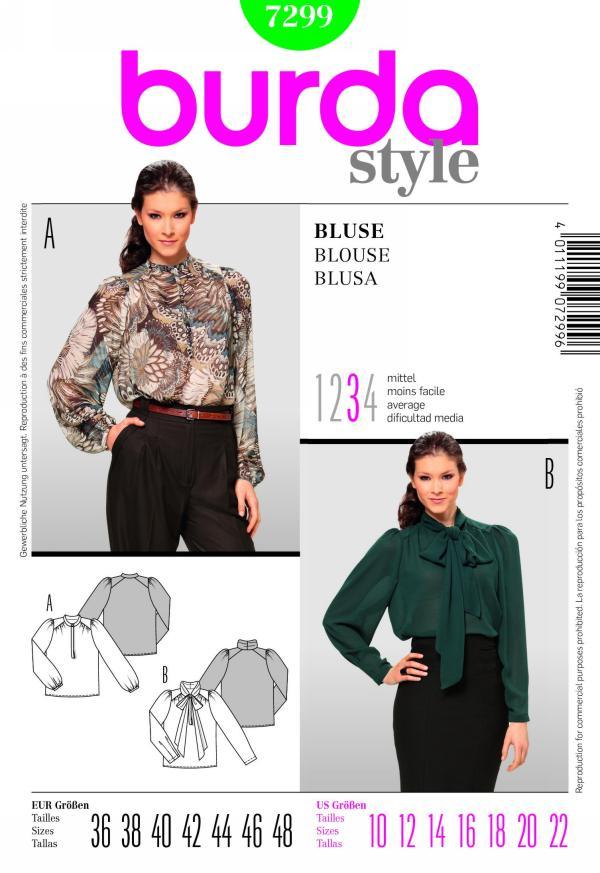 Burda misses blouse 7299