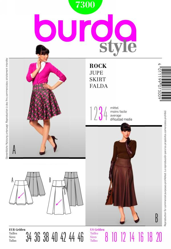 Burda misses skirt 7300