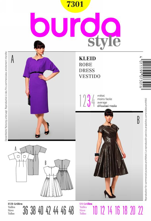 Burda misses dress 7301