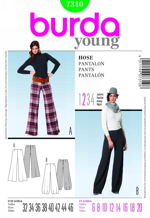 Burda misses pants 7310