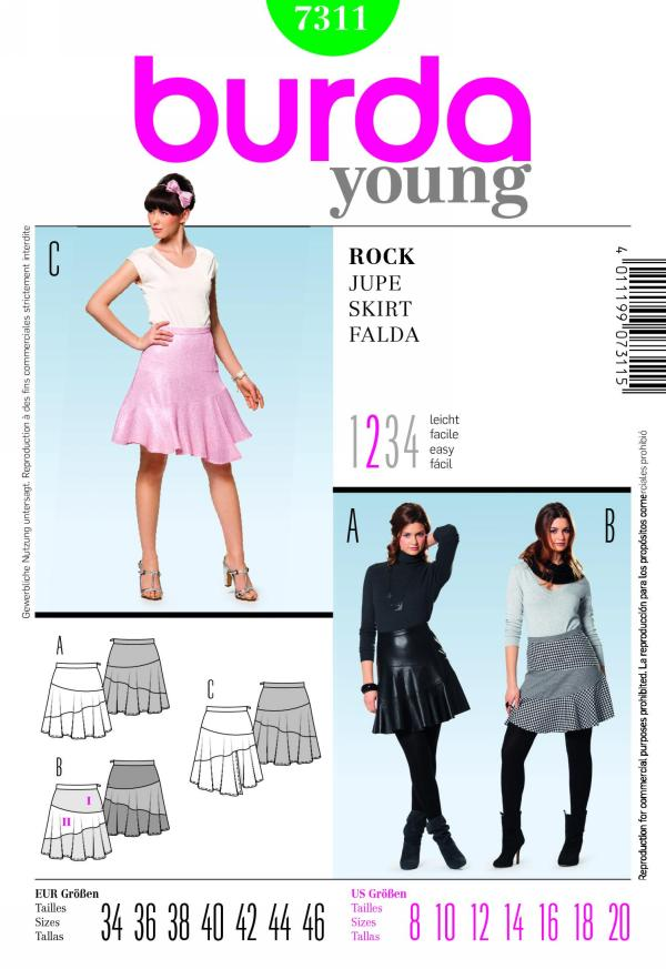 Burda misses skirt 7311