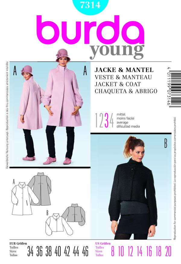 Burda misses jacket and cape 7314