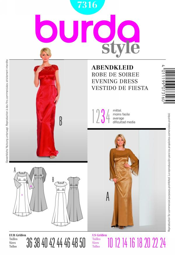 Burda evening dress 7316