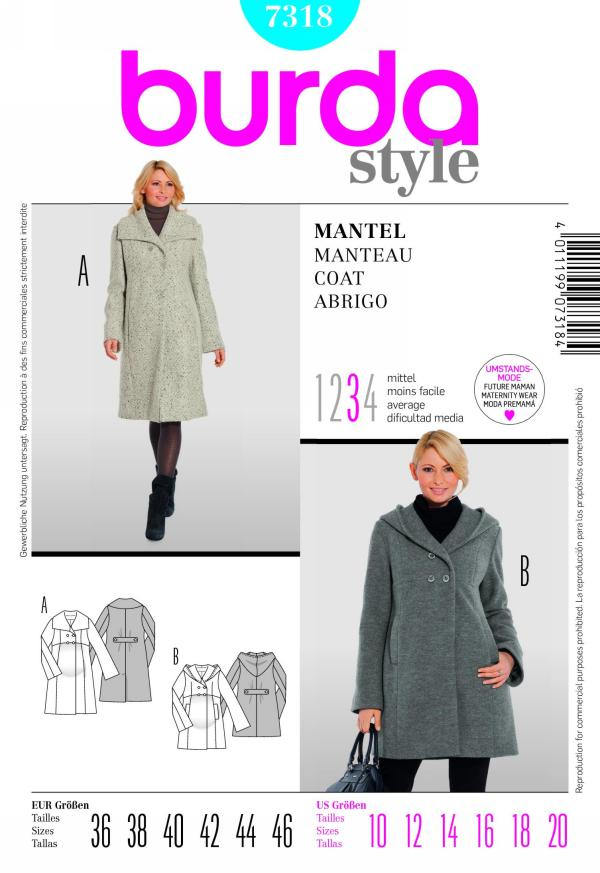 Burda misses coat 7318