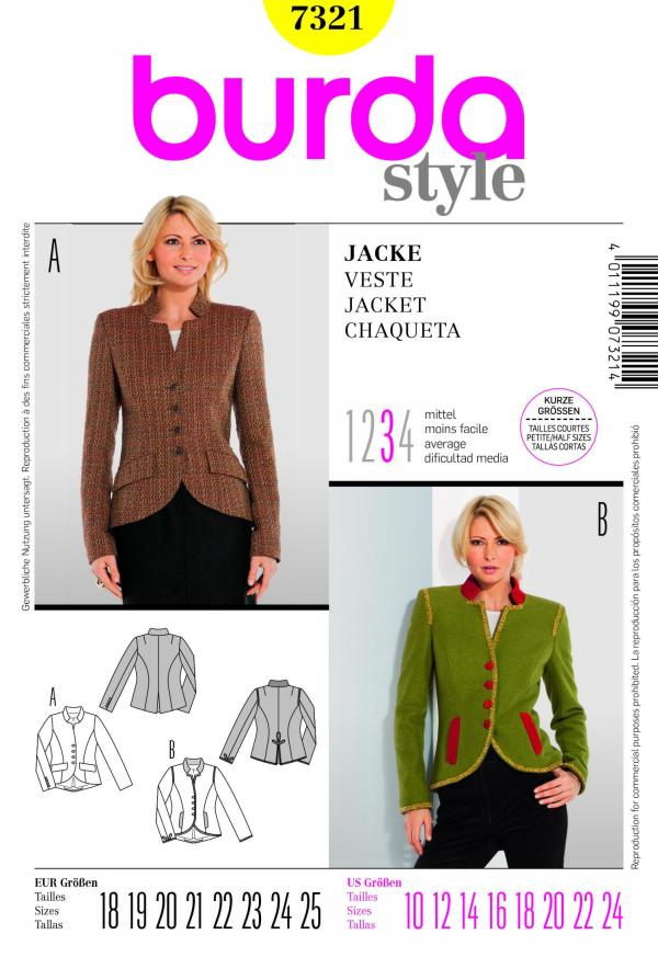 Burda misses jacket 7321