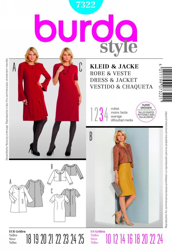 Burda misses dress and jacket 7322
