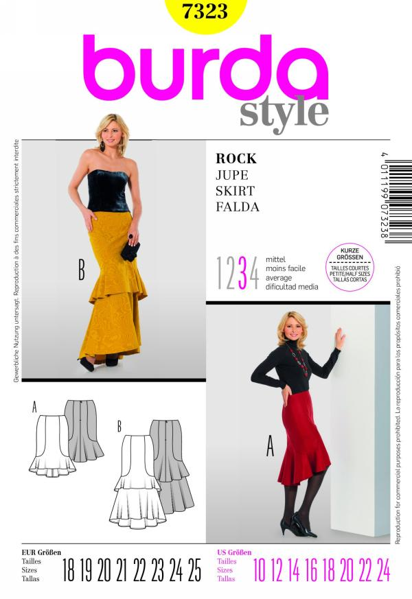 Burda misses skirt 7323