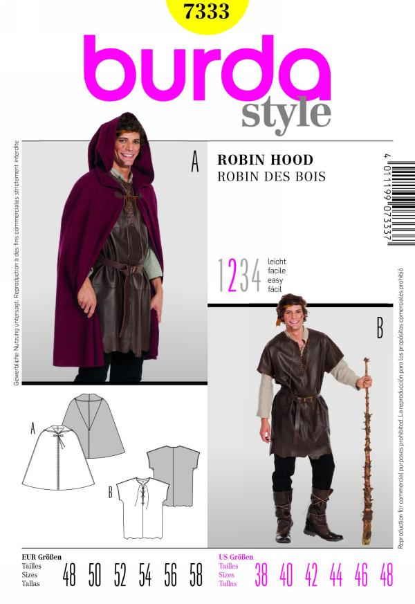 Burda men's robin hood costume 7333