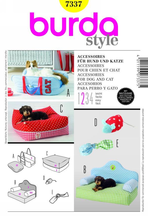 Burda accessories for dog and cat 7337