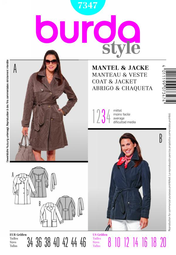 Burda COAT & JACKET 7347