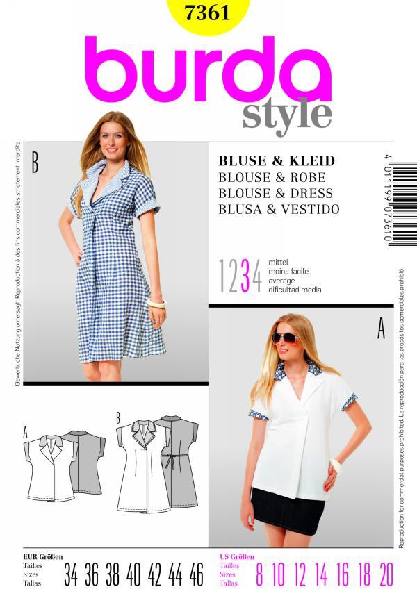 Burda BLOUSE & DRESS 7361