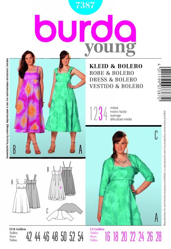 Burda DRESS & BOLERO 7387