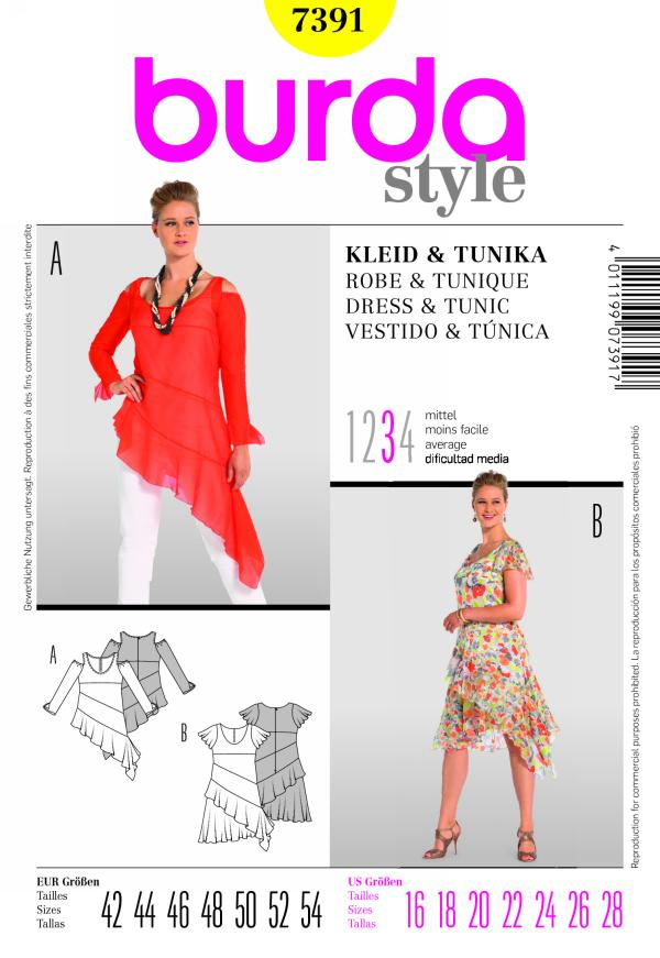 Burda DRESS & TUNIC 7391