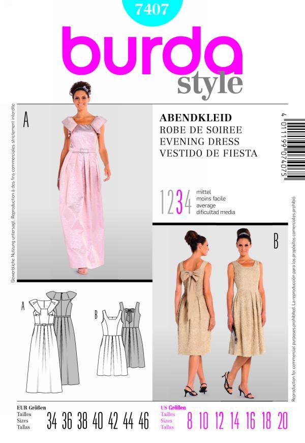 Burda EVENING DRESS 7407