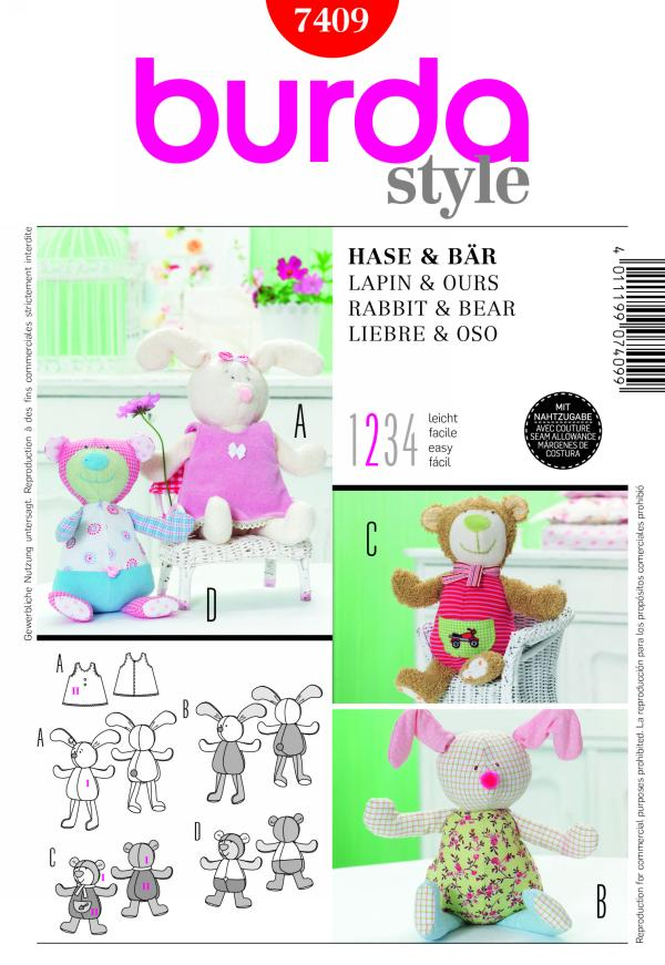 Burda RABBIT & BEAR 7409