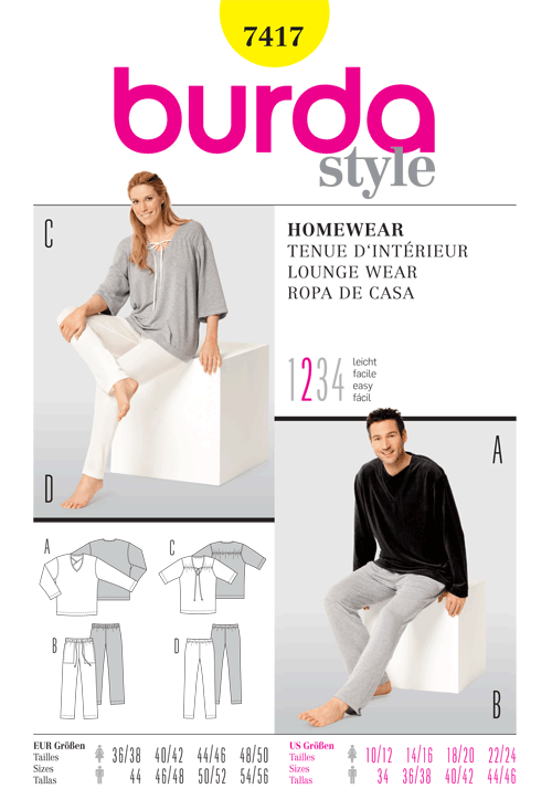Burda Lounge Wear 7417