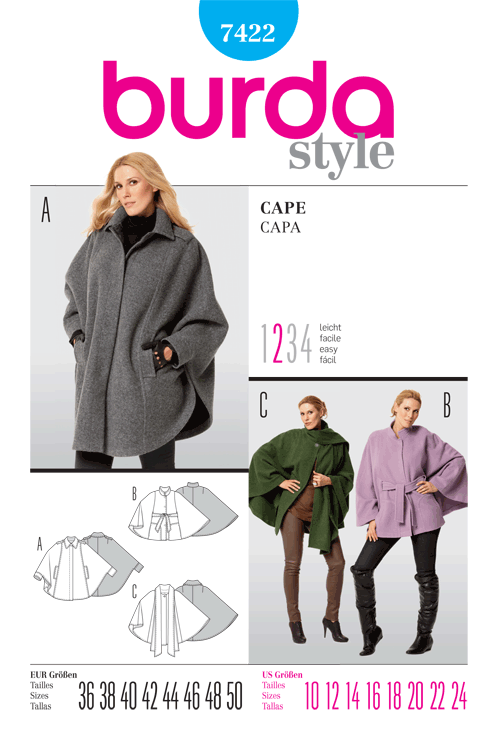 Burda Misses Cape 7422