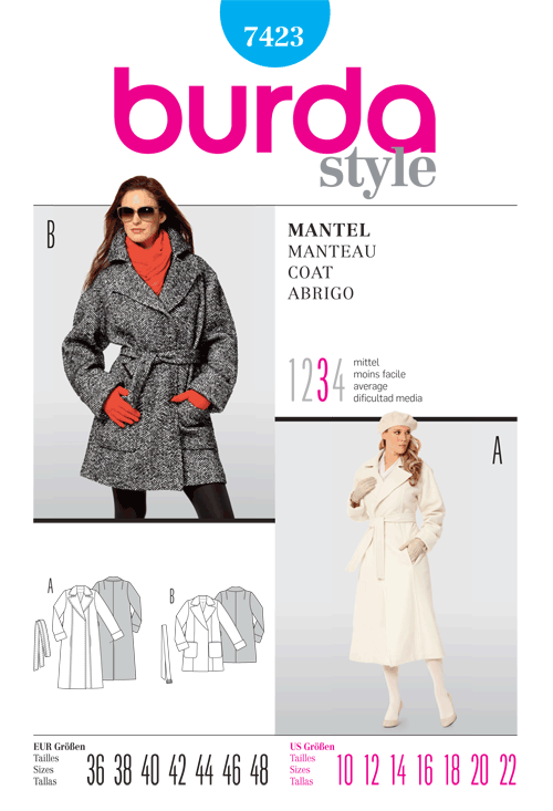 Burda Misses Coat 7423