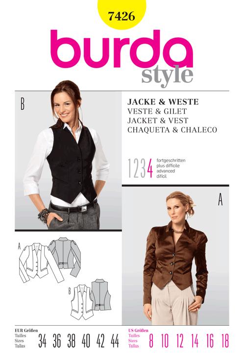Burda Jacket & Vest 7426