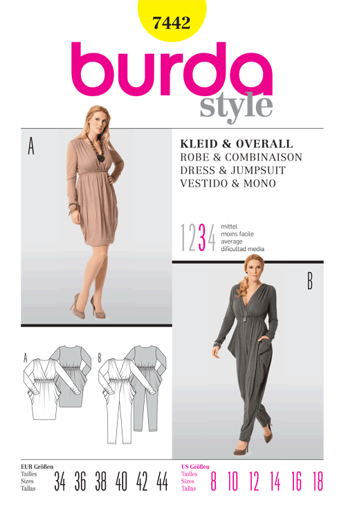 Burda Dress & Jumpsuit 7442