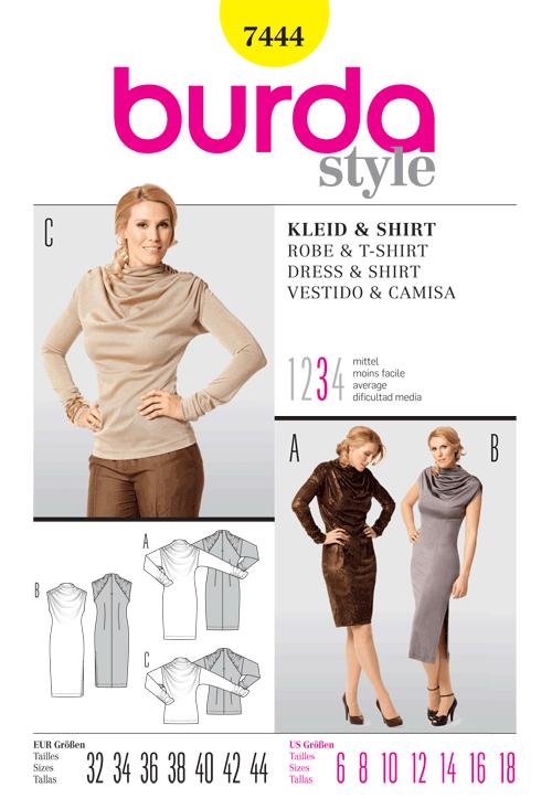 Burda Dress & Shirt 7444