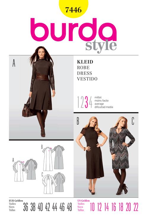 Burda Misses Dress 7446