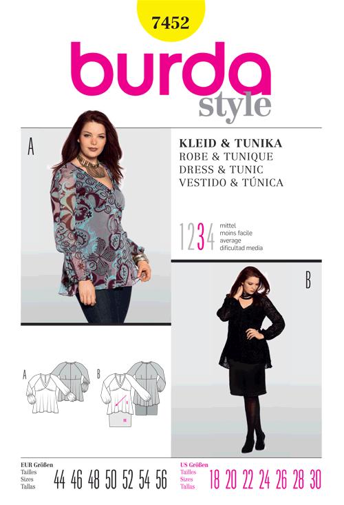 Burda Dress & Tunic 7452