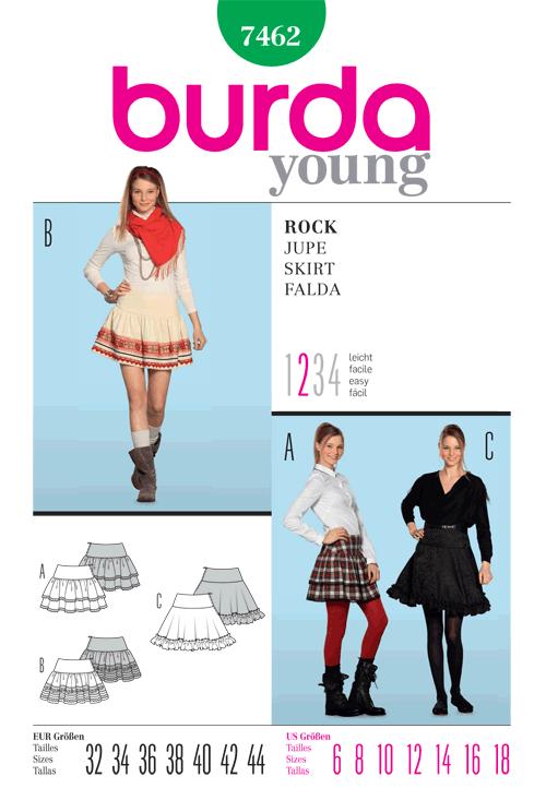 Burda Misses Skirt 7462