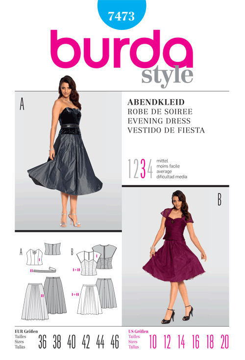 Burda Evening Dress 7473