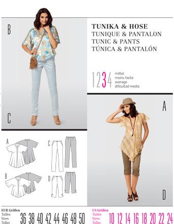 Burda TUNIC & PANTS 7486